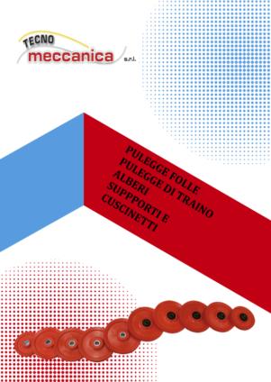 Pulegge e alberi - Catalogo Tecnomeccanica